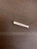 Custom Sterling Silver Name Four Bar Necklace - Birthday Gifts Mother's Day Gifts (288215506)