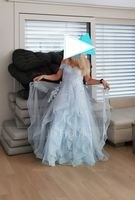 Ball-Gown/Princess Off-the-Shoulder Floor-Length Tulle Prom Dresses With Sequins (018224386)