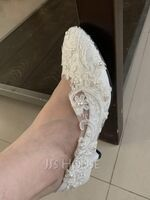 Women's Leatherette Stiletto Heel Closed Toe With Stitching Lace (047153544)