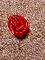 Romantic Satin Boutonniere (Sold in a single piece) - (123182817)