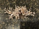 Ladies Exquisite Alloy Combs & Barrettes With Rhinestone/Venetian Pearl (042225034)