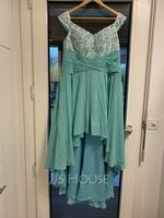A-Line Off-the-Shoulder Asymmetrical Chiffon Prom Dresses With Sequins (018221175)