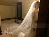 Two-tier Lace Applique Edge Cathedral Bridal Veils With Applique (006125297)