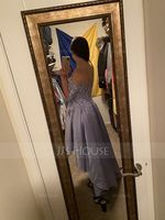 A-Line Off-the-Shoulder Asymmetrical Satin Homecoming Dress (022205065)