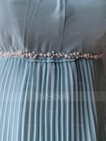 Beautiful Satin Sash With Crystal/Imitation Pearls (015198534)