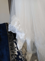 Two-tier Lace Applique Edge Cathedral Bridal Veils With Lace (006233681)