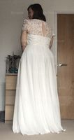 A-Line Scoop Neck Floor-Length Chiffon Lace Prom Dresses With Pockets (272258093)