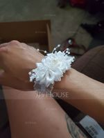 Satin Wrist Corsage (Sold in a single piece) - (123182758)