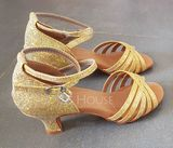 Women's Sparkling Glitter Heels Latin Dance Shoes (053149291)