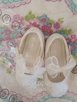 Girl's Closed Toe Low Heel Flower Girl Shoes (207257676)