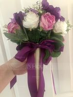 Hand-tied Satin Bridal Bouquets/Bridesmaid Bouquets (Sold in a single piece) - (123170911)