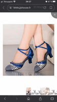 Women's Sparkling Glitter Ballroom Dance Shoes (053130666)