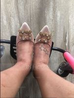 Women's Silk Like Satin Stiletto Heel Pumps With Crystal shoes (085105799)