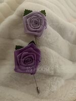 Classic Satin Boutonniere (Sold in a single piece) - (123182821)