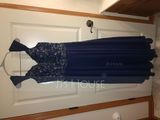 V-neck Ankle-Length Chiffon Lace Mother of the Bride Dress With Sequins (267198323)