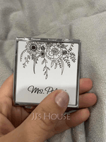 Personalized Cuboid Stainless Steel Compact Mirror (118202343)