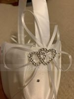 Flower Girl Satin Flower Basket With Ribbon (198238494)