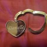 Personalized Heart Shaped Zinc Alloy Purse Hook (20 letters or less) (Sold in a single piece) (118120916)