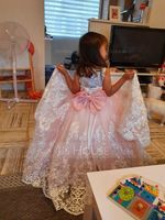 Ball Gown Court Train Flower Girl Dress - Satin/Tulle/Lace Sleeveless Scoop Neck With Lace/Beading/Bow(s) (010125857)