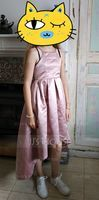 Scoop Neck Asymmetrical Satin Junior Bridesmaid Dress With Ruffle (268193542)