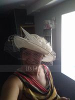 Ladies' Nice/Romantic/Vintage/Artistic Cambric With Tulle Fascinators/Kentucky Derby Hats/Tea Party Hats (196171489)