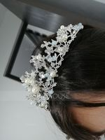Ladies Elegant Rhinestone/Alloy/Imitation Pearls Tiaras With Rhinestone/Venetian Pearl (042138720)