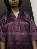 Personalized Charmeuse Bridesmaid Glitter Print Robes (248155113)
