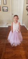 Tea-length Flower Girl Dress - Tulle Lace Sleeveless Scoop Neck (269201999)