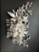 Ladies Nice Alloy/Imitation Pearls Combs & Barrettes With Venetian Pearl (Sold in single piece) (042165448)