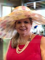 Ladies' Colorful Organza With Feather Floppy Hat/Kentucky Derby Hats (196091602)