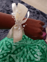 Free-Form Satin Wrist Corsage (Sold in a single piece) - (123130449)