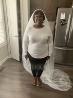 Two-tier Cut Edge Chapel Bridal Veils (006168557)