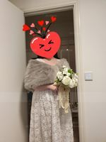 Faux Fur Wedding Shawl (013224128)