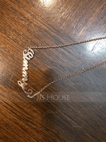 [Free Shipping]Custom 18k Rose Gold Plated Carrie Name Necklace - Birthday Gifts Mother's Day Gifts (288211301)