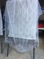 One-tier Fingertip Bridal Veils With Beading/Sequin (006094953)