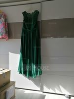 A-Line/Princess Scoop Neck Floor-Length Chiffon Lace Bridesmaid Dress With Split Front (007144746)