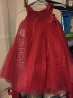 Sweetheart Ankle-Length Tulle Junior Bridesmaid Dress With Bow(s) (268193460)