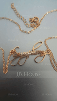 18k Gold Plated Name Name Necklace - (288251799)