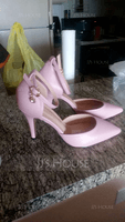 Women's Patent Leather Stiletto Heel Sandals Closed Toe With Rhinestone Buckle shoes (085129670)