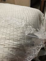 Two-tier Lace Applique Edge Cathedral Bridal Veils With Lace (006163752)