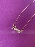 Custom 18k Rose Gold Plated Old English Name Necklace - Birthday Gifts Mother's Day Gifts (288217718)