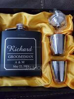 Groomsmen Gifts - Personalized Classic Elegant Stainless Steel Flask (258170935)
