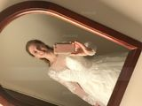 Ball-Gown/Princess Illusion Court Train Tulle Lace Wedding Dress (002127273)