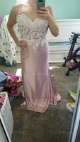 Trumpet/Mermaid Sweetheart Sweep Train Prom Dresses (272235402)