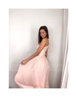 A-Line/Princess Sweetheart Floor-Length Chiffon Bridesmaid Dress With Ruffle Split Front (266177062)