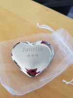 Personalized Heart Shaped Stainless Steel Compact Mirror (Sold in a single piece) (118120903)