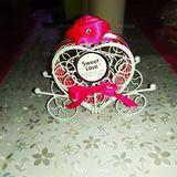Lovely/Heart style Heart-shaped Metal Favor Boxes & Containers/Candy Jars and Bottles With Ribbons (Set of 12) (050168351)