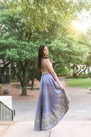 Scoop Neck Asymmetrical Satin Prom Dresses (272214527)