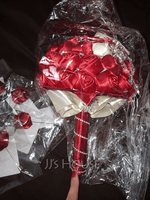 Round Satin/Rhinestone Bridal Bouquets (Sold in a single piece) - (123182215)