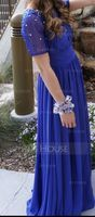 A-Line/Princess Scoop Neck Floor-Length Chiffon Prom Dresses With Ruffle Beading Sequins (018070348)